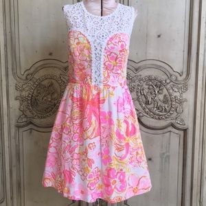 Lilly Pulitzer sundress with lace detail
